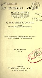 Cover of: An imperial victim | Edith E. Cuthell