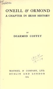 Cover of: O'Neill & Ormond | Diarmid Coffey