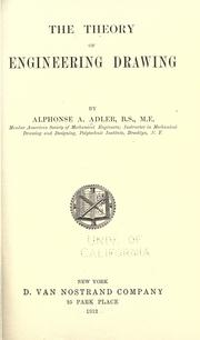 Cover of: The theory of engineering drawing by Alphonse Andrew Adler