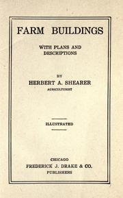 Cover of: Farm buildings, with plans and descriptions by Herbert A. Shearer