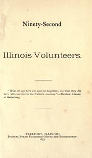 Cover of: Ninety-Second Illinois Volunteers | Illinois Infantry. 92d Regiment, 1862-1865.