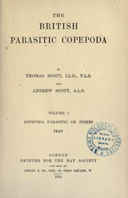 Cover of: The British parasitic Copepoda | Thomas Scott