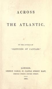 Cover of: Across the Atlantic | John Delaware Lewis