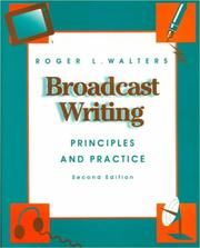 Cover of: Broadcast writing | Roger L. Walters