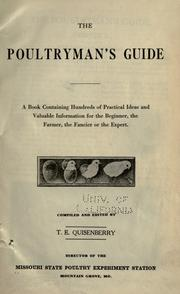 Cover of: The poultryman's guide | Missouri. State Poultry Experiment Station, Mountain Grove.