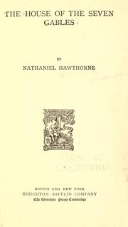 Cover of: The house of the seven gables by Nathaniel Hawthorne