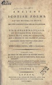 Cover of: Ancient Scottish poems, never before in print | Pinkerton, John