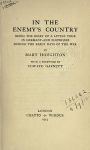 Cover of: In the enemy's country by Mary Houghton