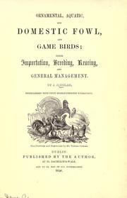 Cover of: Ornamental, aquatic, and domestic fowl, and game birds | James Joseph Nolan