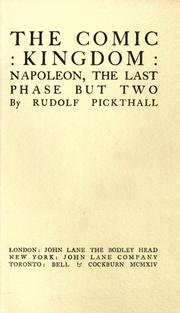Cover of: The comic kingdom by Rudolf Pickthall