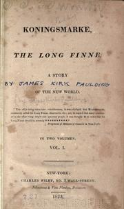 Cover of: Koningsmarke, the long Finne | Paulding, James Kirke