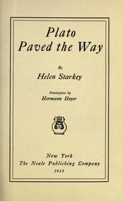 Cover of: Plato paved the way | Helen Starkey