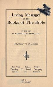 Cover of: Living messages of the books of the Bible | Morgan, G. Campbell