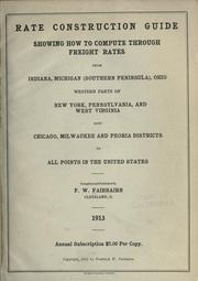 Cover of: Rate construction guide | Frederick William Fairbairn