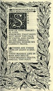 Cover of: In Memoriam by Alfred, Lord Tennyson