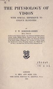 Cover of: The physiology of vision | Frederick William Edridge-Green