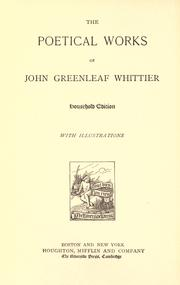 Cover of: Poems by John Greenleaf Whittier