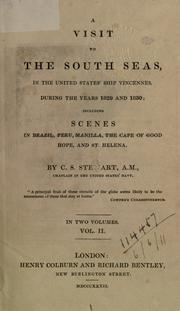 Cover of: A visit to the South Seas by Charles Samuel Stewart