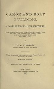 Cover of: Canoe and boat building by William Picard Stephens