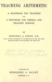 Cover of: Teaching arithmetic | Bailey, M. A.
