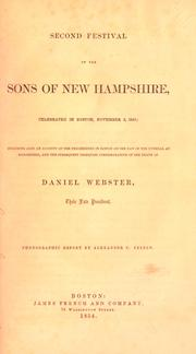 Cover of: Second festival of the Sons of New Hampshire | Sons of New Hampshire.