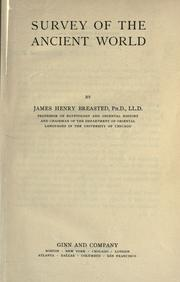 Cover of: Survey of the ancient world by James Henry Breasted