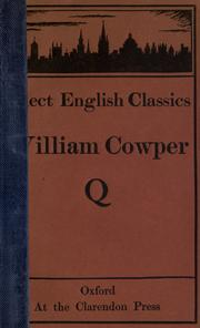 Cover of: Cowper's poems, chosen by A.T. Quiller-Couch by Cowper, William