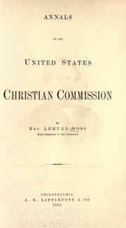 Cover of: Annals of the United States Christian Commission | Lemuel Moss