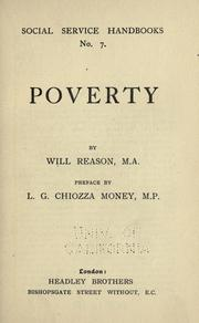 Cover of: Poverty by Will Reason