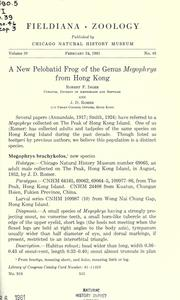 Cover of: A new pelobatid frog of the genus Megophrys from Hong Kong | Robert F. Inger