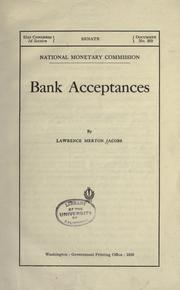 Cover of: Bank acceptances | Lawrence Merton Jacob