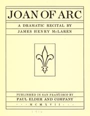 Cover of: Joan of Arc | James Henry McLaren
