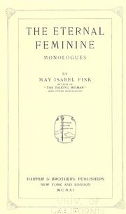 Cover of: The eternal feminine | May Isabel Fisk