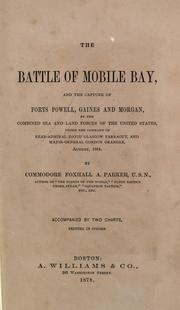 Cover of: The battle of Mobile Bay | Foxhall A. Parker