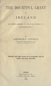Cover of: The doubtful grant of Ireland by Ginnell, Laurence