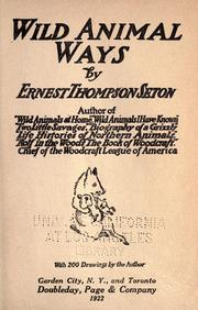 Cover of: Wild animal ways by Ernest Thompson Seton