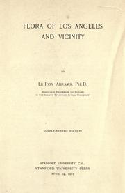 Cover of: Flora of Los Angeles and vicinity | LeRoy Abrams