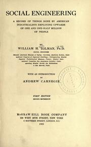 Cover of: Social engineering | William Howe Tolman