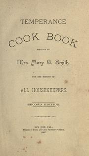 Temperance cook book