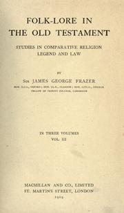 Cover of: Folk-lore in the Old Testament by James George Frazer