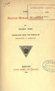 Cover of: The master mosaic-workers | George Sand