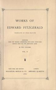Cover of: Works of Edward FitzGerald by Edward FitzGerald