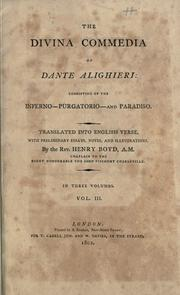 Cover of: Divina commedia | Dante Alighieri