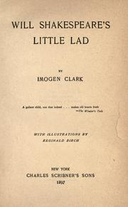 Cover of: Will Shakespeare's little lad | Imogen Clark