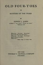 Cover of: Old Four-Toes by Edwin L. Sabin