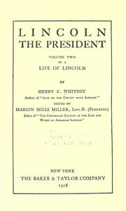 Cover of: Life of Lincoln by Henry Clay Whitney