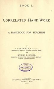 Cover of: Correlated hand-work by John Herman Trybom