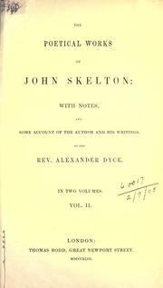 Cover of: Poetical works by John Skelton