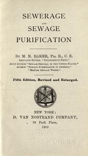 Cover of: Sewerage and sewage purification | M. N. Baker
