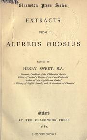 Cover of: Extracts from Alfred's Orosius | Alfred King of England